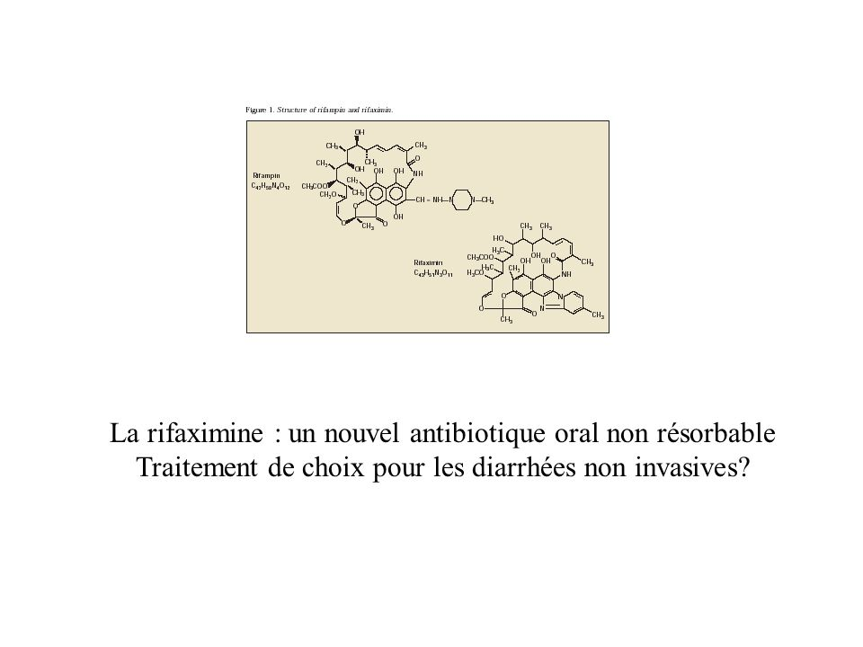 La rifaximine : un nouvel antibiotique oral non résorbable Traitement de choix pour les diarrhées non invasives?