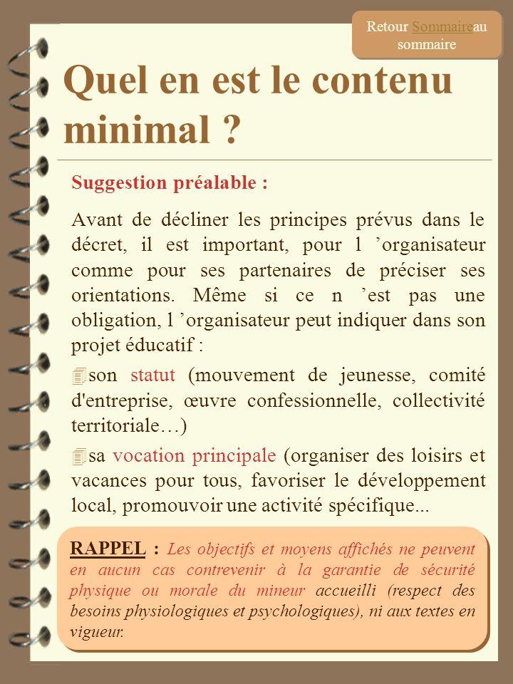 10 Suggestion préalable : Avant de décliner les principes prévus dans le décret, il est important, pour l organisateur comme pour ses partenaires de p