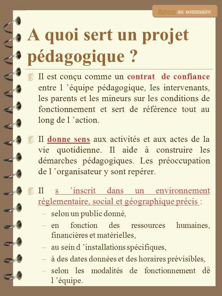 19 4 Il est conçu comme un contrat de confiance entre l équipe pédagogique, les intervenants, les parents et les mineurs sur les conditions de fonctio