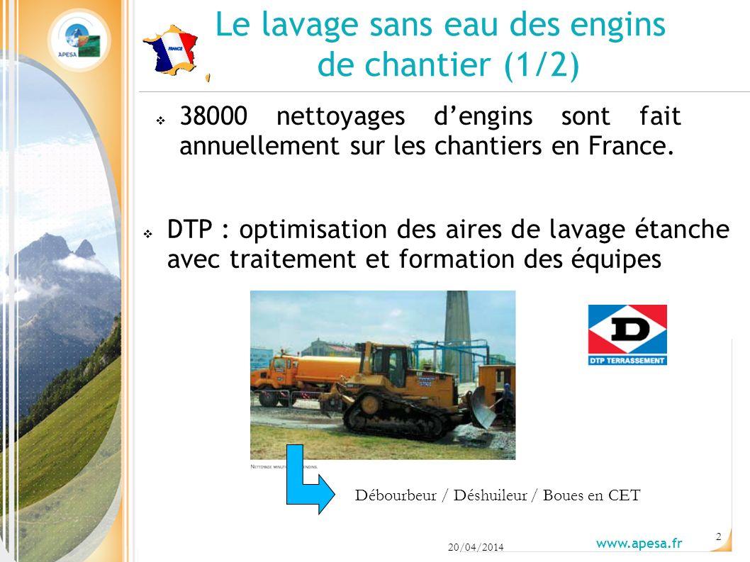 Le lavage sans eau des engins de chantier (1/2) 38000 nettoyages dengins sont fait annuellement sur les chantiers en France.