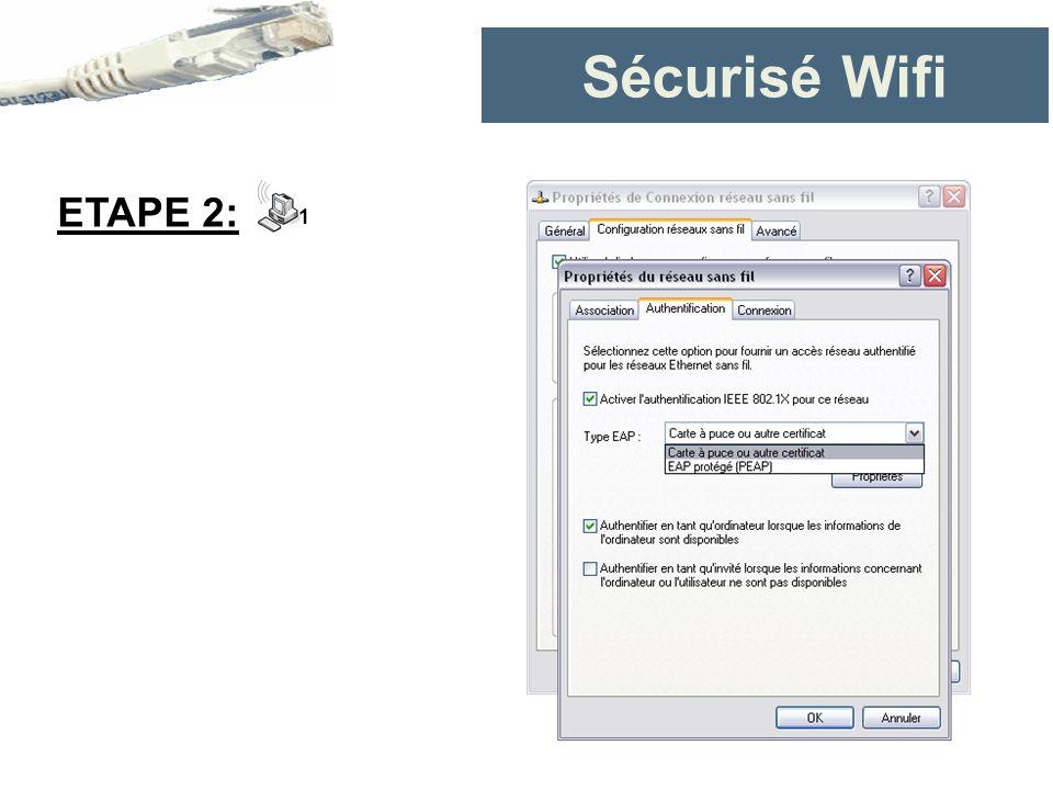 Sécurisé Wifi ETAPE 2: 1