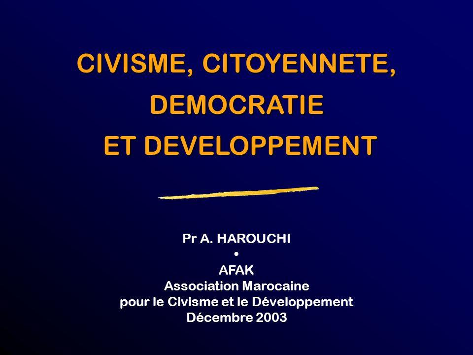 La démocratie et le développement sont-ils possibles sans mise à niveau des comportements et des attitudes et sans participation citoyenne ?