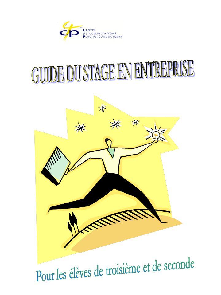 INTRODUCTION Les stages en entreprise constituent sans doute la séquence la plus proche de lesprit de léducation à lorientation car ils proposent une véritable expérience de vie.