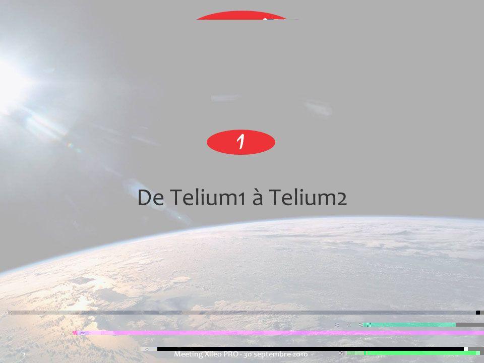 2 Meeting Xileo PRO - 30 septembre 2010 De Telium1 à Telium2 1