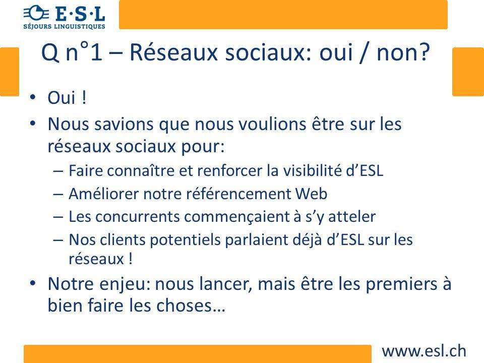 www.esl.ch Q n°2: comment justifier la démarche.