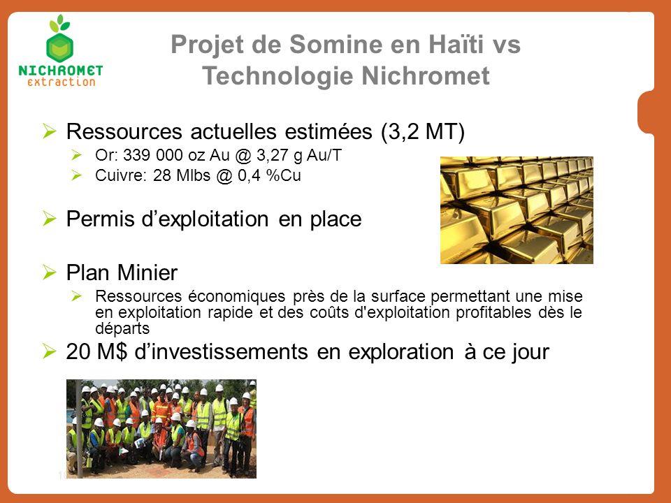 10/31/07 Ressources actuelles estimées (3,2 MT) Or: 339 000 oz Au @ 3,27 g Au/T Cuivre: 28 Mlbs @ 0,4 %Cu Permis dexploitation en place Plan Minier Re