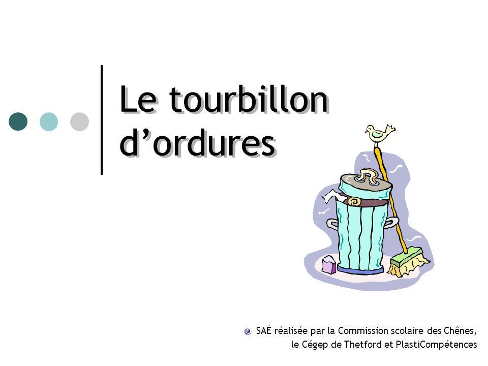 Le tourbillon dordures SAÉ réalisée par la Commission scolaire des Chênes, le Cégep de Thetford et PlastiCompétences