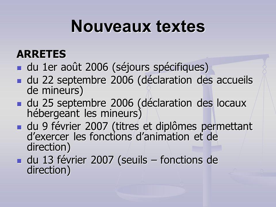 Nouveaux textes DECRETS n°2006-665 du 7 juin 2006 (formation spécialisée en matière dinterdiction dexercer) n°2006-665 du 7 juin 2006 (formation spéci