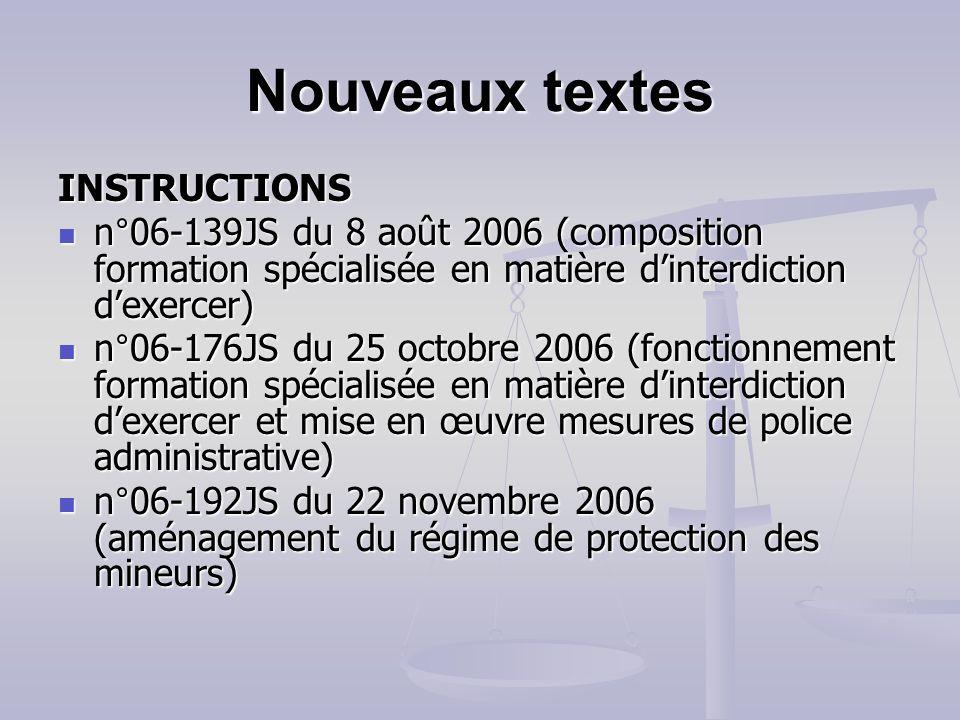 Nouveaux textes ARRETES du 1er août 2006 (séjours spécifiques) du 1er août 2006 (séjours spécifiques) du 22 septembre 2006 (déclaration des accueils d