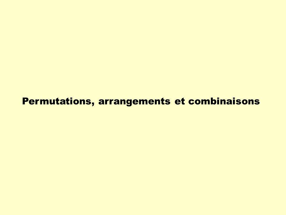 Permutations, arrangements et combinaisons