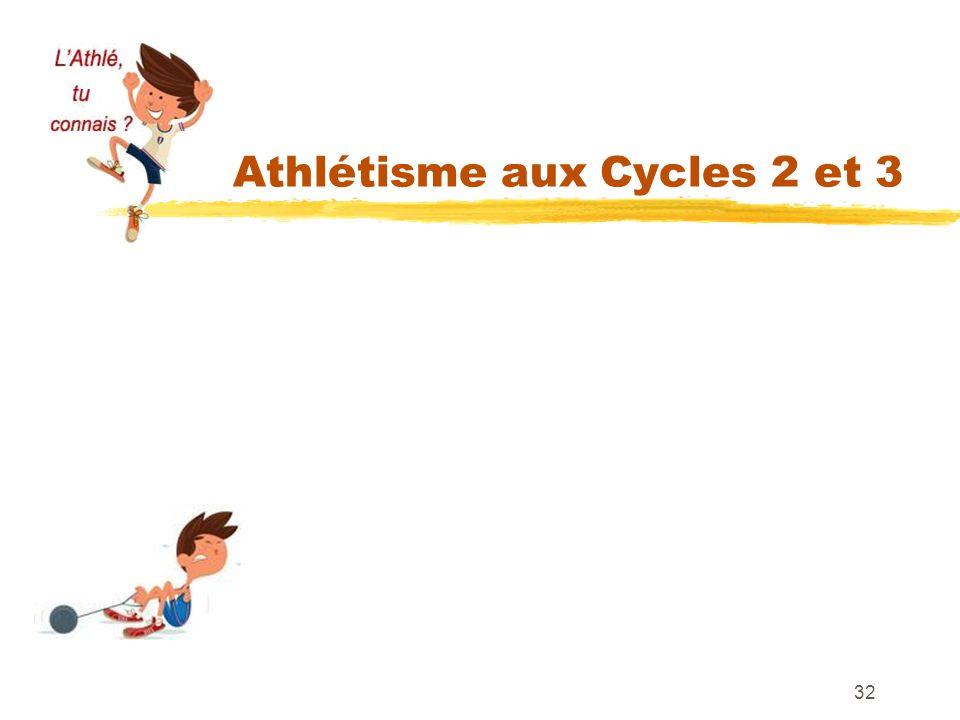 Athlétisme aux Cycles 2 et 3 32 LANCER