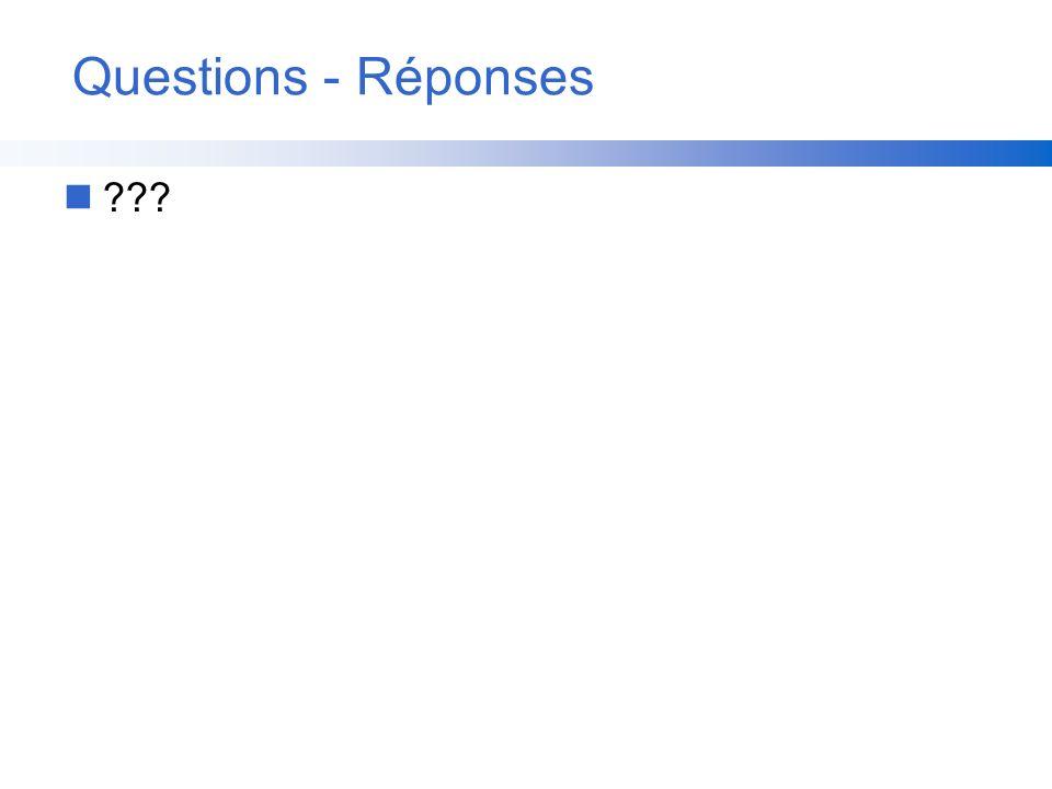 Questions - Réponses n???