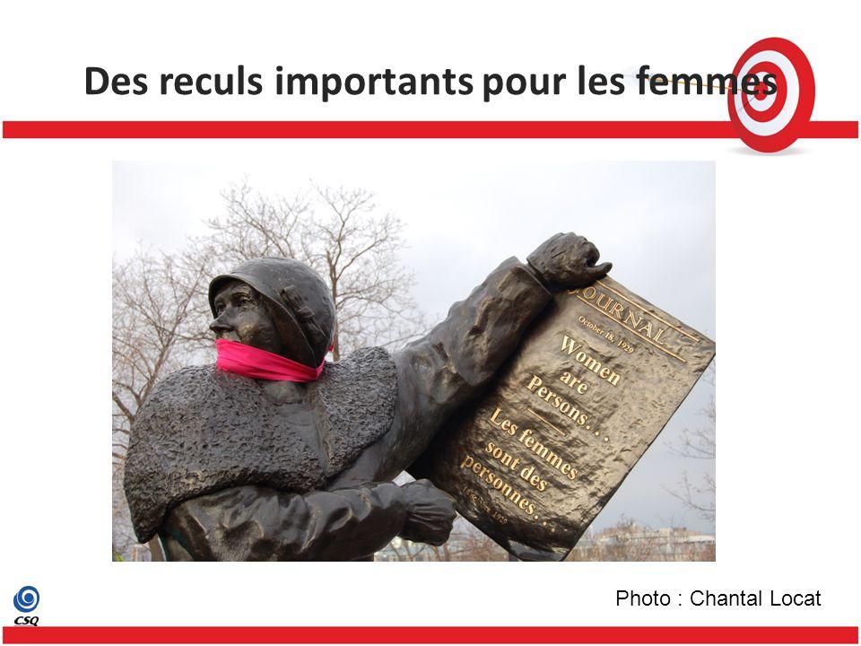 Des reculs importants pour les femmes Photo : Chantal Locat