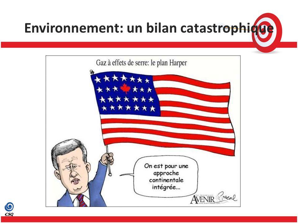 Environnement: un bilan catastrophique