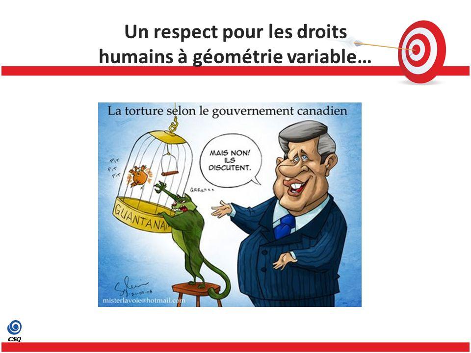 Un respect pour les droits humains à géométrie variable…