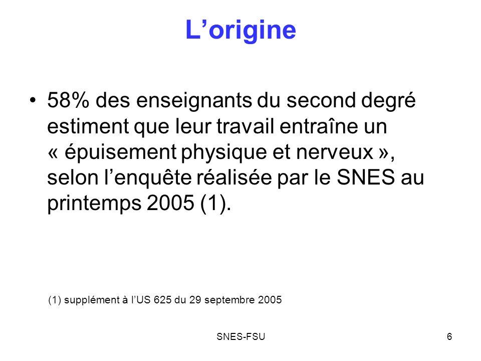 SNES-FSU7 Lorigine Prétendue « contre partie » à une réforme qui les pénalise lourdement, la seconde carrière pour les enseignants est introduite par la loi de réforme des retraites.
