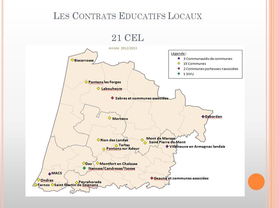 L ES C ONTRATS E DUCATIFS L OCAUX 21 CEL