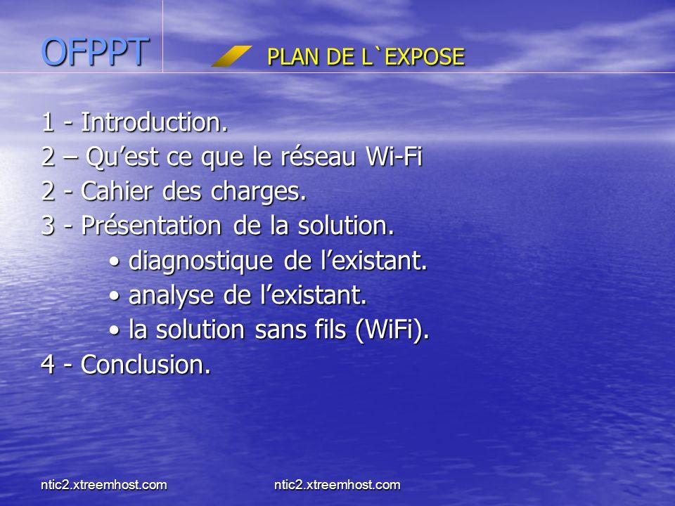 ntic2.xtreemhost.com OFPPT PLAN DE L`EXPOSE 1 - Introduction.