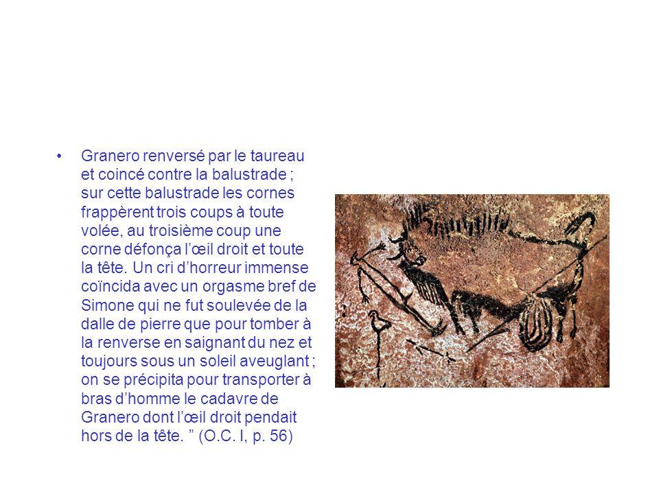 Elle a le mérite de proposer une interprétation cohérente de la peinture du puits de Lascaux, où un bison mourant affronte lhomme qui peut-être la tué, auquel le peintre a donné laspect dun mort.