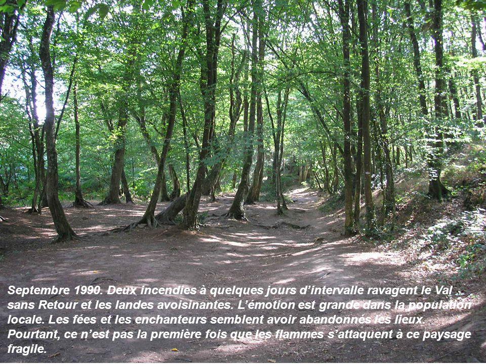Septembre 1990. Deux incendies à quelques jours dintervalle ravagent le Val sans Retour et les landes avoisinantes. Lémotion est grande dans la popula