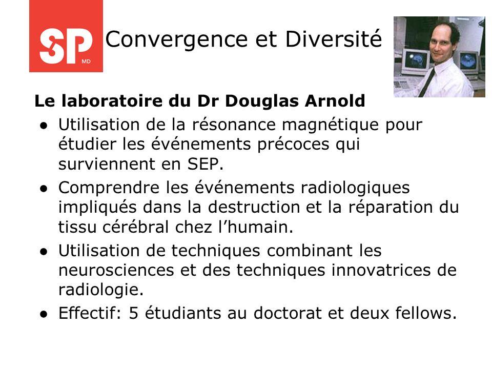 Le laboratoire du Dr Douglas Arnold Utilisation de la résonance magnétique pour étudier les événements précoces qui surviennent en SEP. Comprendre les