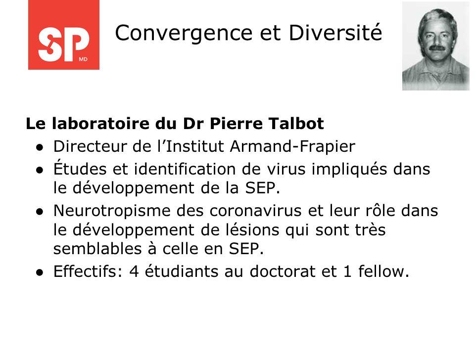 Le laboratoire du Dr Pierre Talbot Directeur de lInstitut Armand-Frapier Études et identification de virus impliqués dans le développement de la SEP.