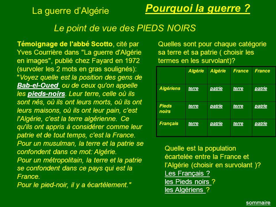 La guerre dAlgérie sommaire Affiche de lEtat français Cette affiche a pour but de montrer: 1 la grande diversité des colonies .