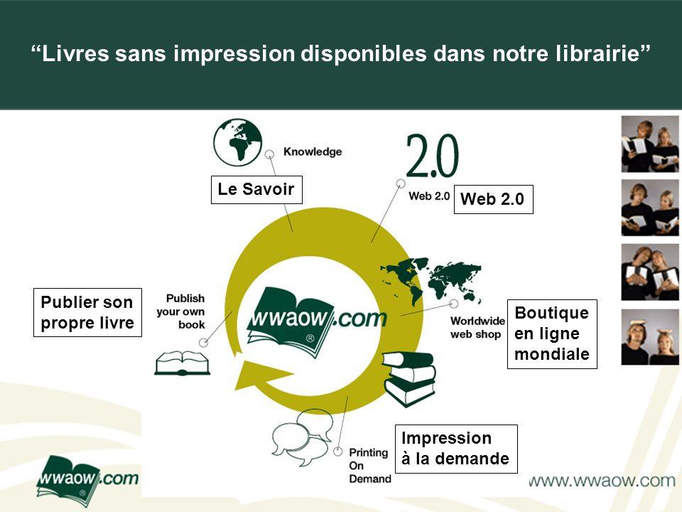 For your printed documents Livres sans impression disponibles dans notre librairie Le Savoir Publier son propre livre Impression à la demande Boutique
