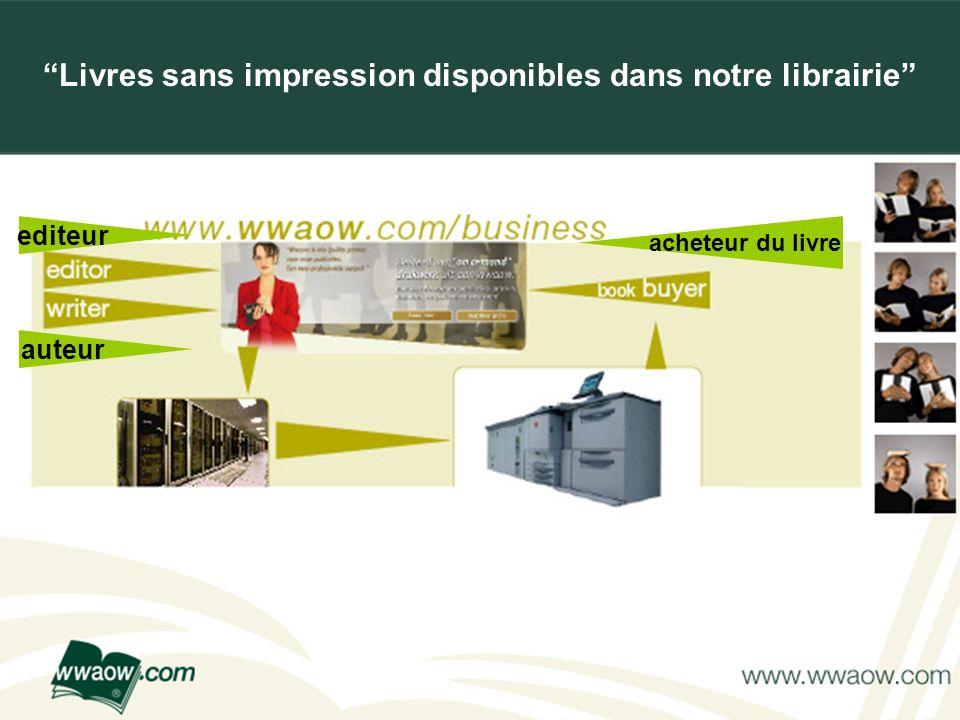 For your printed documents Livres sans impression disponibles dans notre librairie editeur auteur acheteur du livre