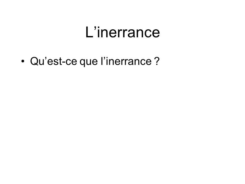 Linerrance Quest-ce que linerrance