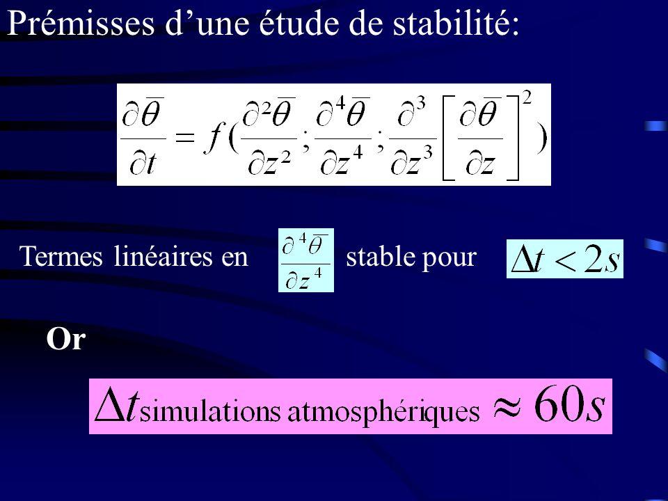 Prémisses dune étude de stabilité: Termes linéaires en stable pour Or