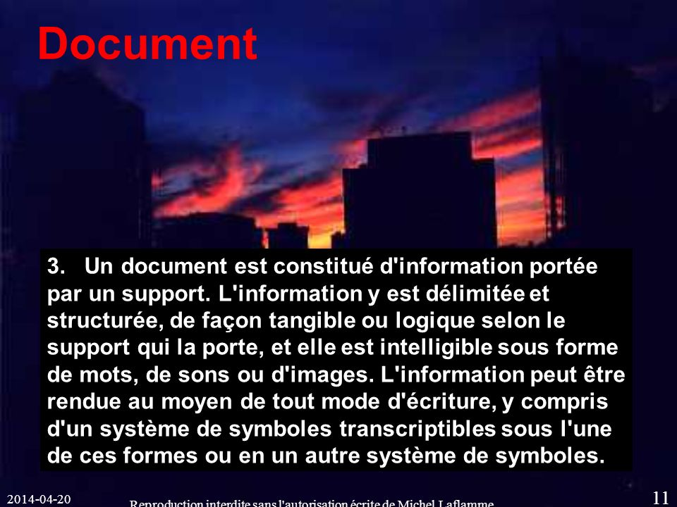 2014-04-20 Reproduction interdite sans l autorisation écrite de Michel Laflamme 11 Document 3.