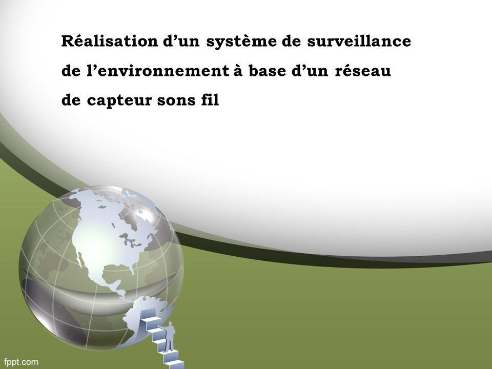 Réalisation dun système de surveillance de lenvironnement à base dun réseau de capteur sons fil