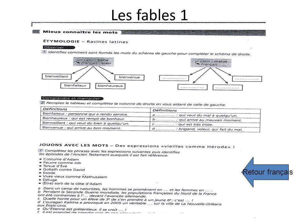 Les fables 1 Retour français