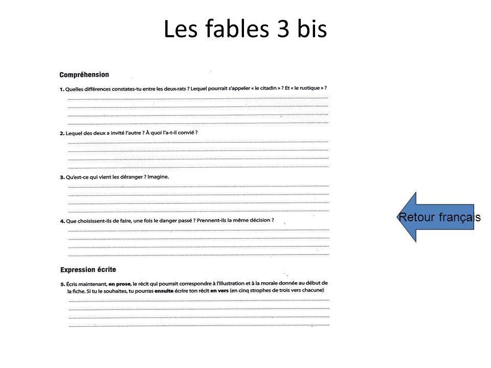 Les fables 3 bis Retour français