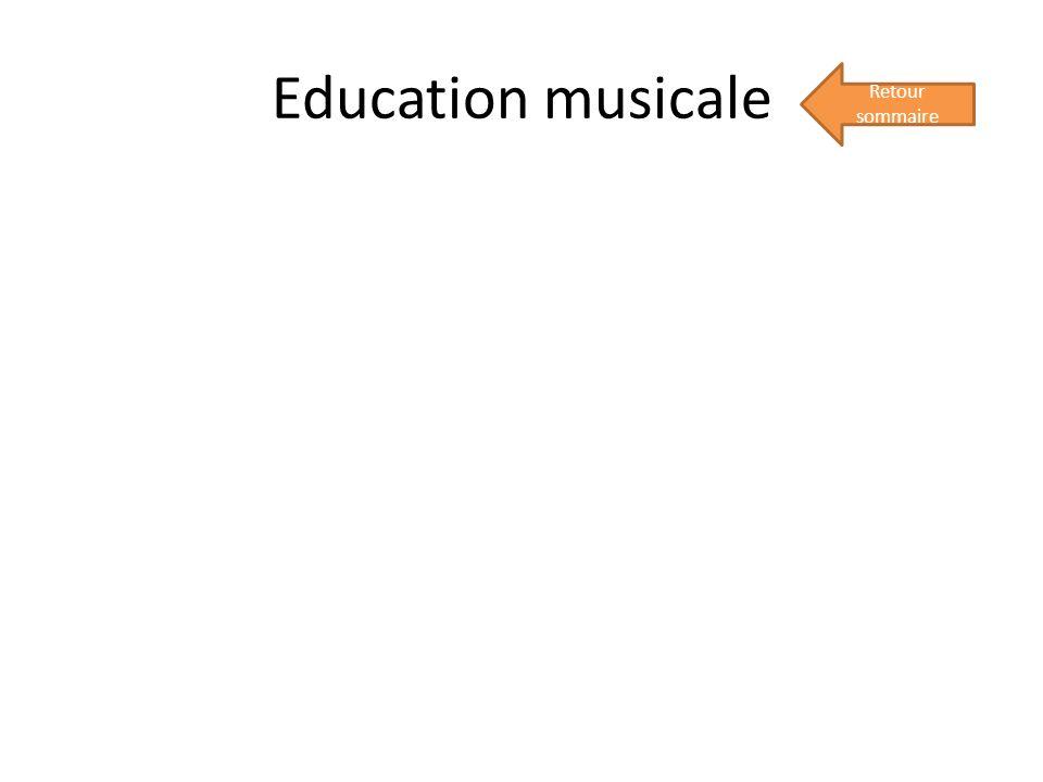Education musicale Retour sommaire