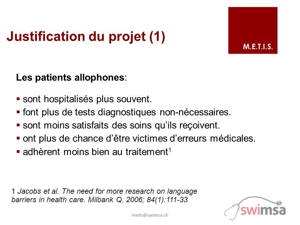 Les patients allophones: sont hospitalisés plus souvent.