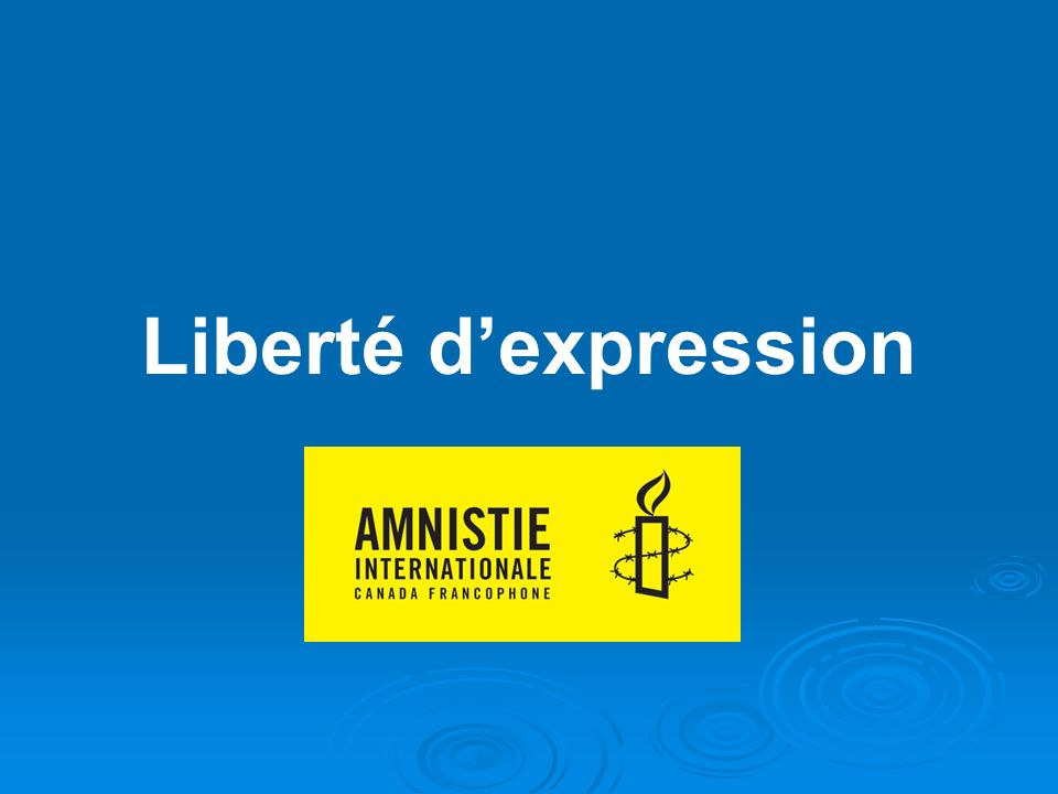 Liberté dexpression