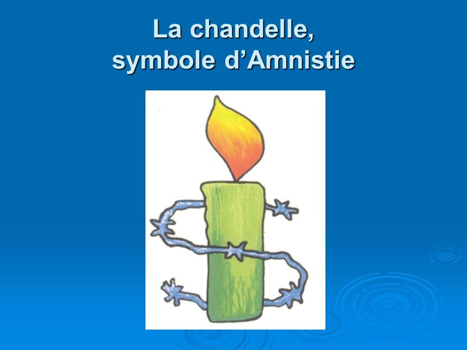 La chandelle, symbole dAmnistie