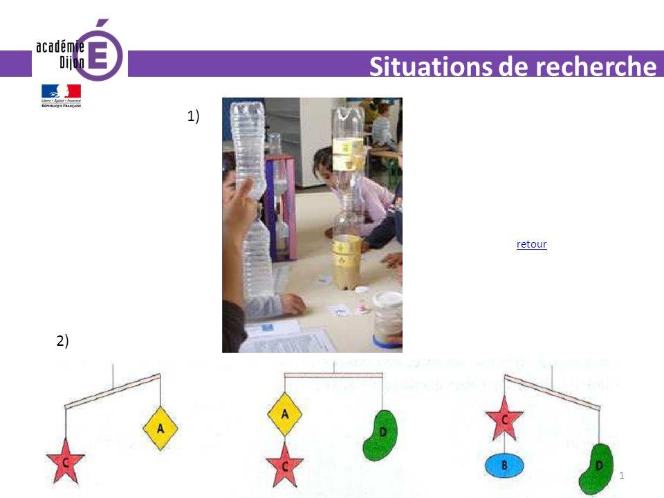 31 Situations de recherche 1) 2) retour