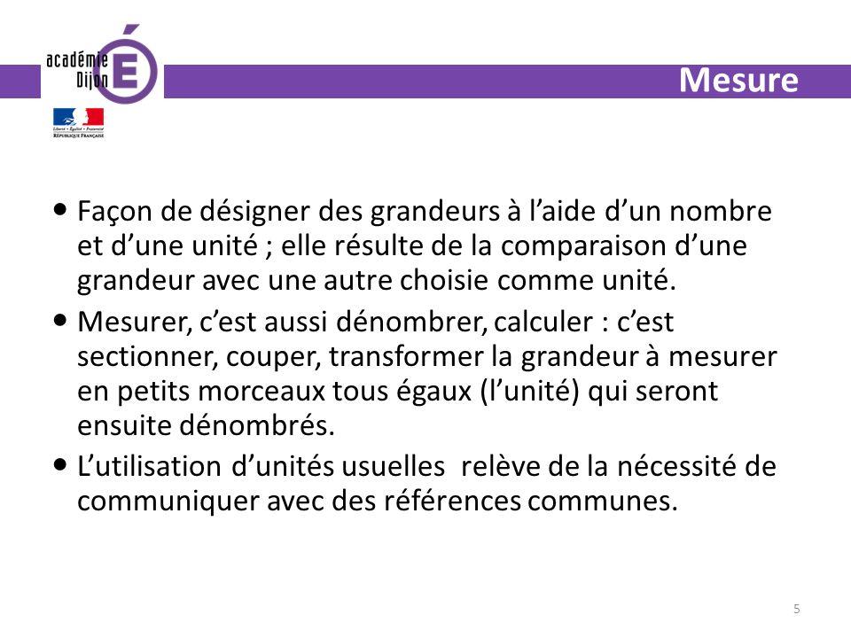 Programmes 2008 Cycle 2 Les élèves apprennent et comparent les unités usuelles - de longueur (m et cm ; km et m), - de masse (kg et g), - de contenance (le litre), - de temps (heure, demi heure) - la monnaie (euro, centime deuro).