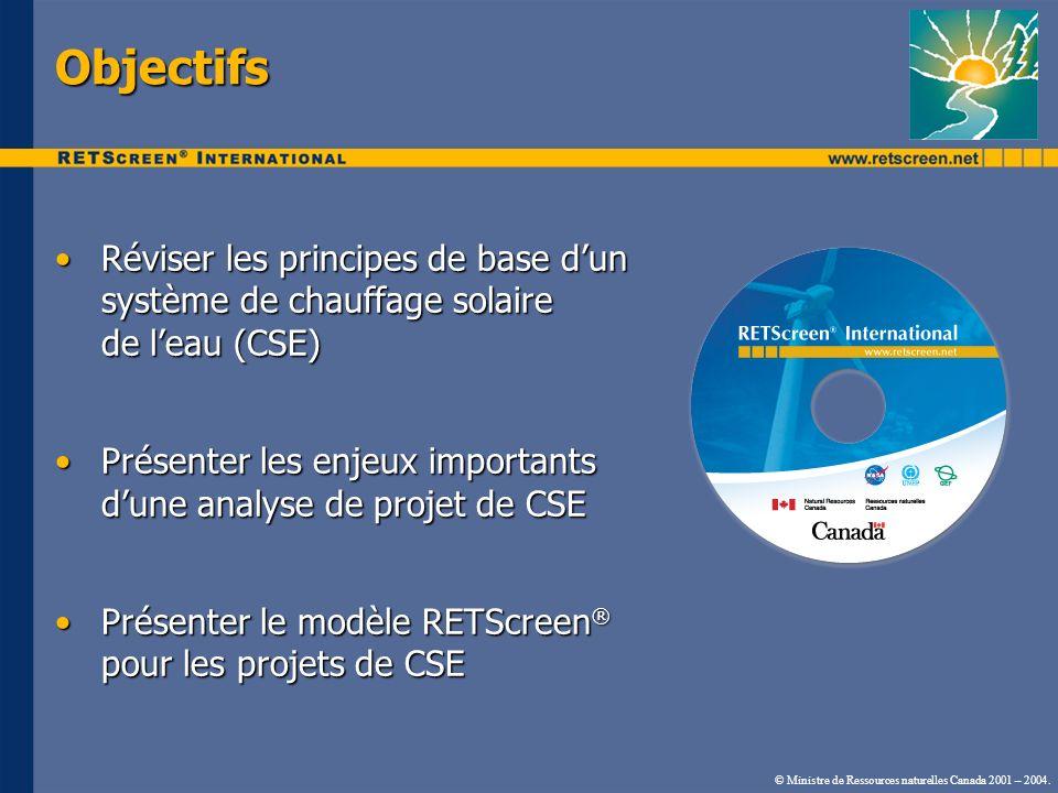 Objectifs Réviser les principes de base dun système de chauffage solaire de leau (CSE)Réviser les principes de base dun système de chauffage solaire d