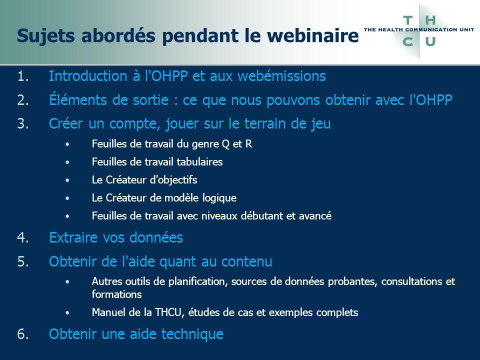 Introduction à l Outil de planification en ligne des programmes de santé (OHPP)