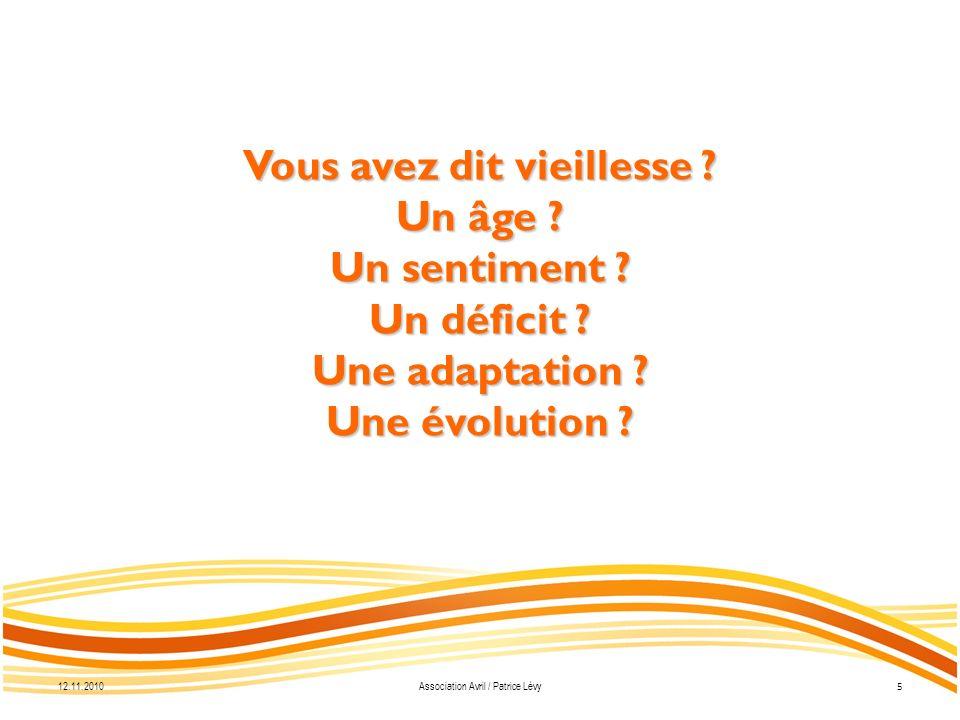 12.11.2010 16 Association Avril / Patrice Lévy Merci de votre attention ! www.association-avril.ch