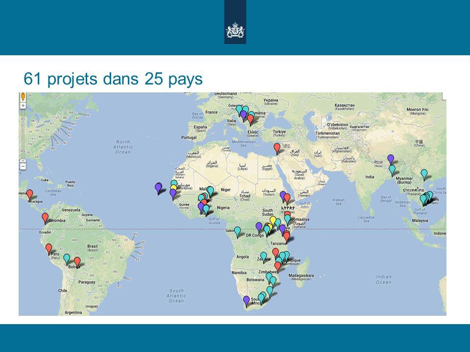 61 projets dans 25 pays