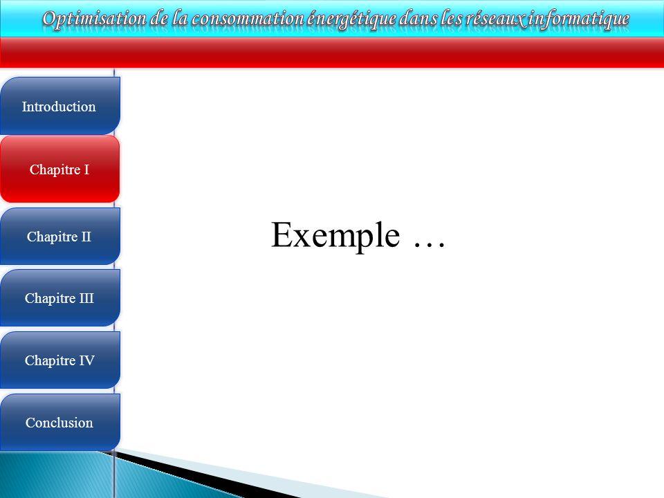 4 Chapitre I Introduction Chapitre II Chapitre III Chapitre IV Conclusion Exemple …