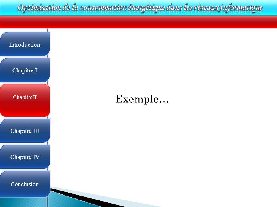 4 Chapitre II Introduction Chapitre I Chapitre III Chapitre IV Conclusion Exemple…