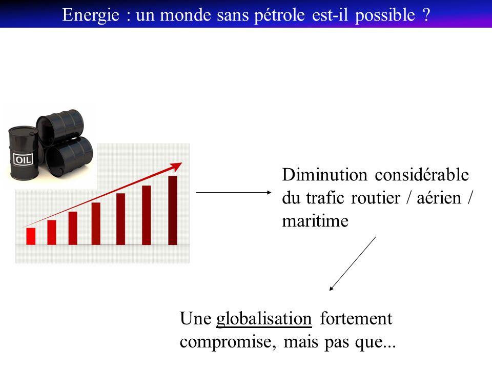 Diminution considérable du trafic routier / aérien / maritime Une globalisation fortement compromise, mais pas que...