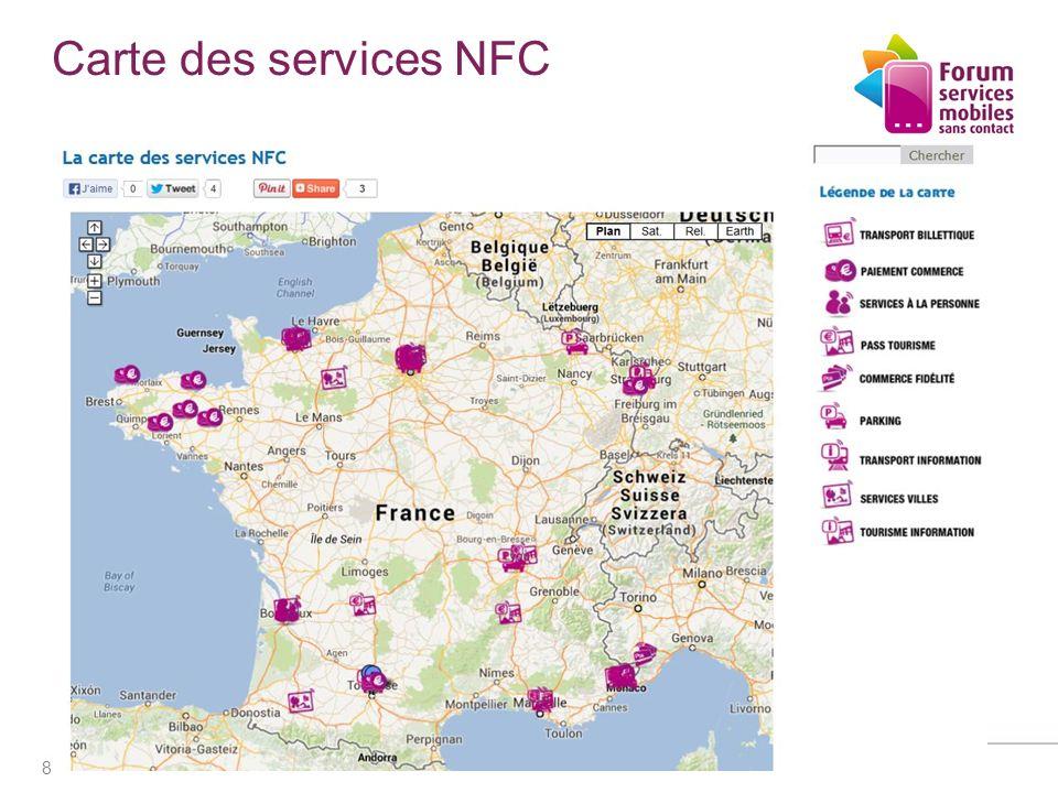 Carte des services NFC 8