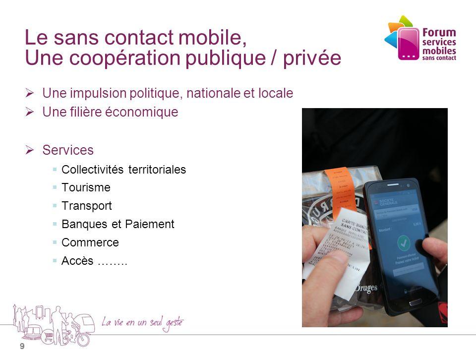 10 Le sans contact mobile, Une impulsion politique Après une accumulation dexpériences STRASBOURG et CAEN : Projet Pegasus (Paiement Mobile).
